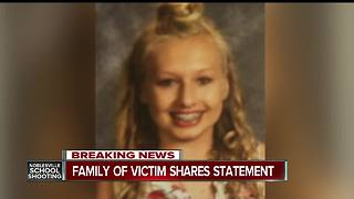 Ella Whistler's family releases statement about girl wounded in school shooting - Video