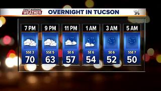 Temperatures cooling and partly cloudy skies across Southern Arizona
