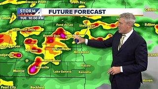 Heavy rain Tuesday night