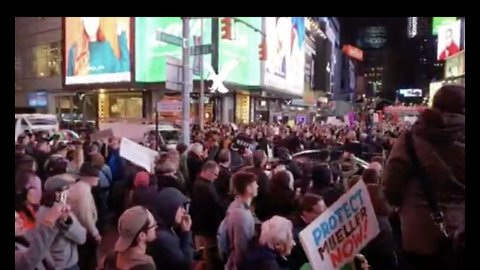 Thousands of Protesters Pack New York City's Times Square to Support Mueller Investigation