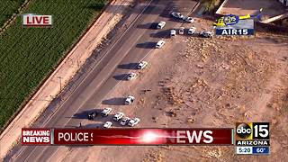 Police searching for suspect after shooting in west Phoenix - Video