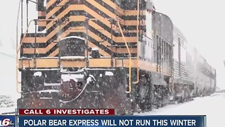 Polar Bear Express train will not run winter 2016 - Video