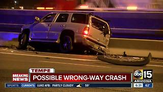 Loop 202 closed after possible wrong-way crash in Tempe - Video
