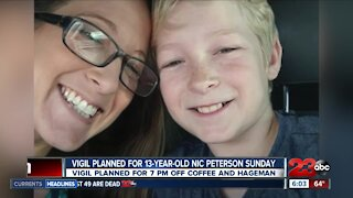 Vigil planned for 13-year-old boy Sunday in Northwest Bakersfield