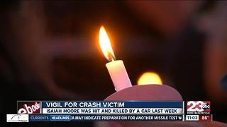 Vigil for crash victim - Video