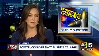 Police: Tow truck driver shot, killed in Valley - Video