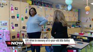 Gift drive for 6-year-old Alia Bailey