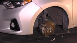 Boynton Beach woman says all four wheels stolen off car