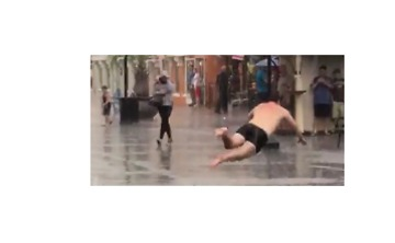 Man Proves That Almost Any Surface Can Be a Slip N' Slide if You Try Hard Enough - Video