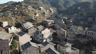 """Eerie drone footage of """"ghost village"""" on island off eastern China"""