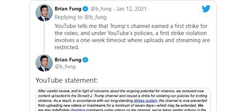 """YouTube Suspends President Trump's Channel for """"Inciting Violence"""""""