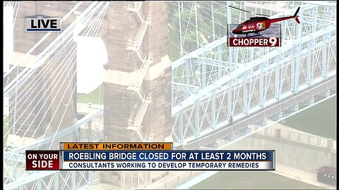 Roebling Bridge closed for at least 2 months