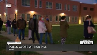 Voters turnout to the polls in Racine