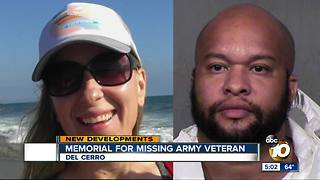 Memorial for missing San Diego Army veteran - Video