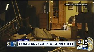 Man arrested for multiple burglaries in Surprise - Video