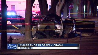 West Allis man killed after crashing into tree during overnight police chase - Video