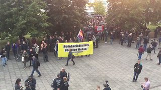 Leftist Protesters Gather Outside AfD Event in Berlin - Video