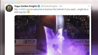 Golden Knights have helmet solution
