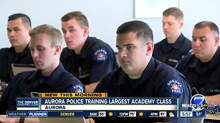 Aurora Police training largest academy of recruits in department's history - Video