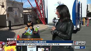 Dayna Roselli and toy donation drive - Video