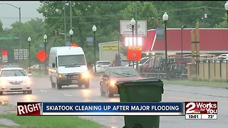 Skiatook businesses cleaning up after flooding