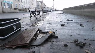 Eleanor waves cause damage to Burnham-on-Sea seafront - Video