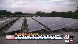 Lee's Summit designated 'open for solar business' - Video
