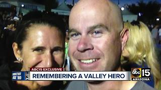 Grieving widow remembers Mesa police officer, husband - Video