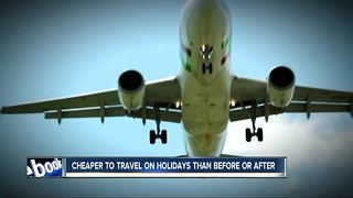 Company says best deals available when traveling on holidays