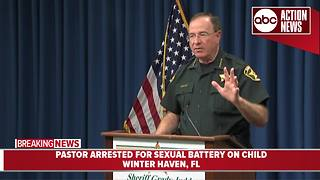 Winter Haven church pastor arrested for improper sexual conduct with two minors - Video