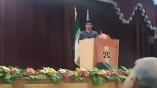 Zibakalam and Ghadiri Answering Students Questions In Tehran University - Video