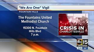 Fountain Hills to hold vigil for Charlottesville - Video