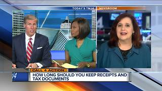 How long should you keep receipts and tax documents - Video
