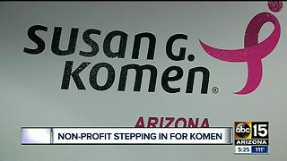 Valley organization stepping in as Susan G Komen closes Arizona chapter - Video