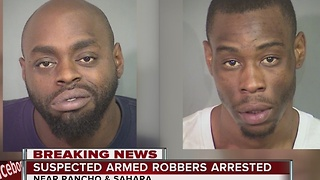 Police arrest two suspects in connection to robbery spree - Video