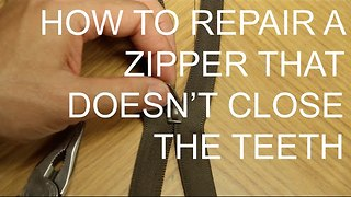 How to fix a zipper that doesn't close - Video