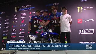 3-year-old Valley girl got a new dirt bike after hers was stolen