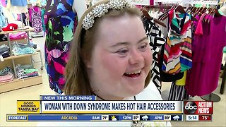 Hot hair accessories designed by local woman with Down syndrome