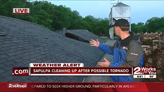 Extensive damage in Sapulpa from possible tornado