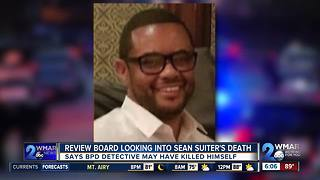 Review Board Looking Into Sean Suiter's Death, says he may have killed himself