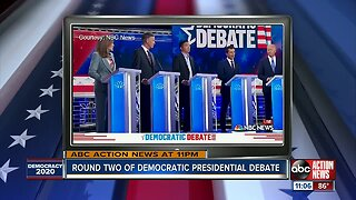 Round two of Democratic presidential debate