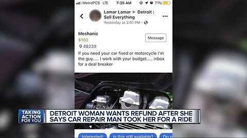 A good deal turns into a dud and leaves Detroit woman with a car repair nightmare
