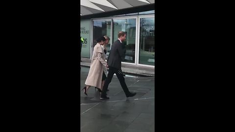 Prince Harry and Meghan Markle make surprise visit to Northern Ireland