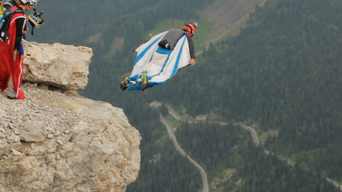 Professional Wingsuiters Throw Themselves Off Mountains