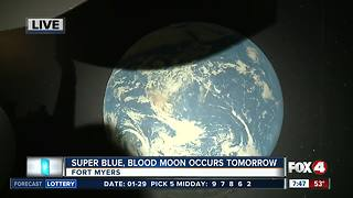 Rare 'super blue blood moon' will light the sky Wednesday morning - 7:30am live report - Video