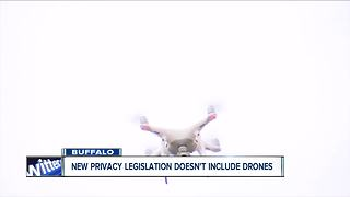 New state legislation related to privacy doesn't include drones - Video