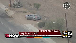 Bicyclist killed in south Phoenix crash - Video