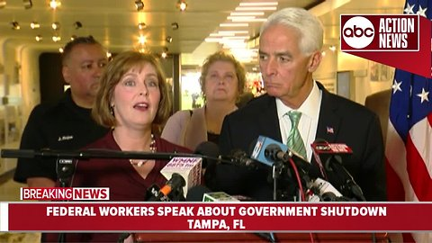 Federal workers speak out against government shutdown | News conference