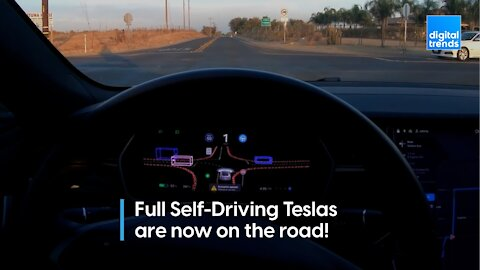 Full Self-Driving Teslas are now on the road!