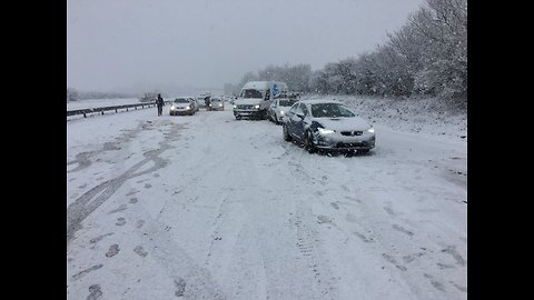 Motorists in Cornwall Stranded After A30 Covered in Snow and Ice